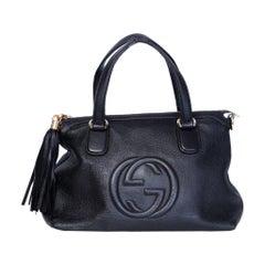 Gucci Soho 2 Way Black Leather Japanese Exclusive Shoulder Purse Shoulder Bag