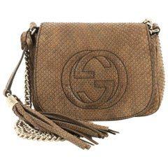 Gucci Soho Chain Crossbody Bag Python Small