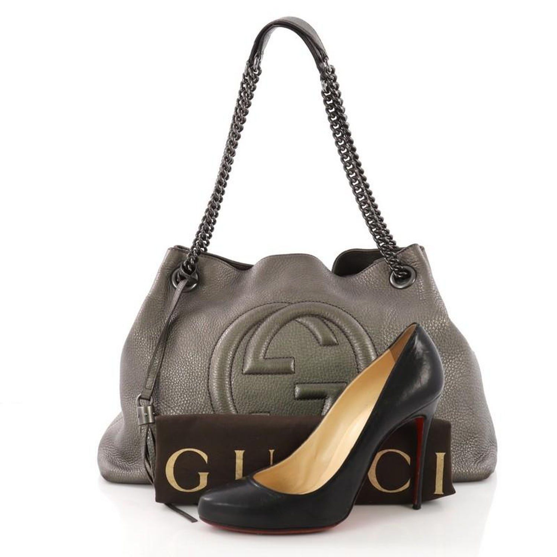 43148483458e Gucci Soho Chain Strap Shoulder Bag Leather Medium at 1stdibs
