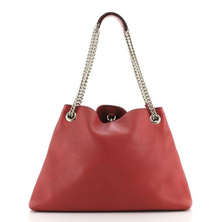 Brown Gucci Soho Chain Strap Shoulder Bag Leather Medium