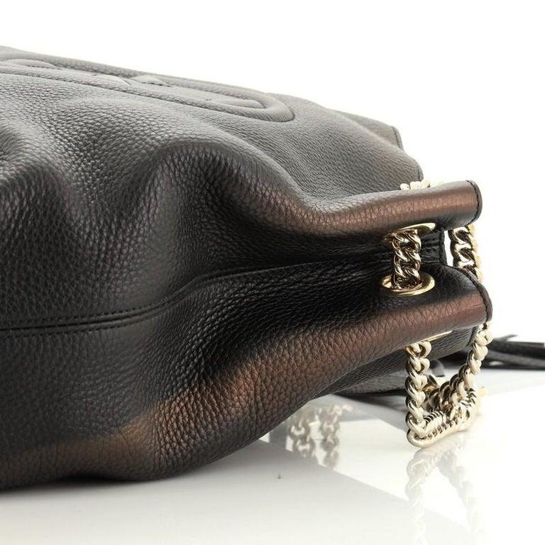 Gucci Soho Chain Strap Shoulder Bag Leather Medium For Sale 2