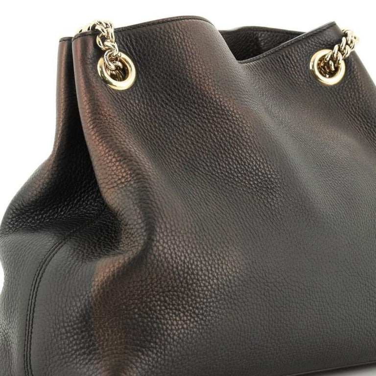 Gucci Soho Chain Strap Shoulder Bag Leather Medium For Sale 3