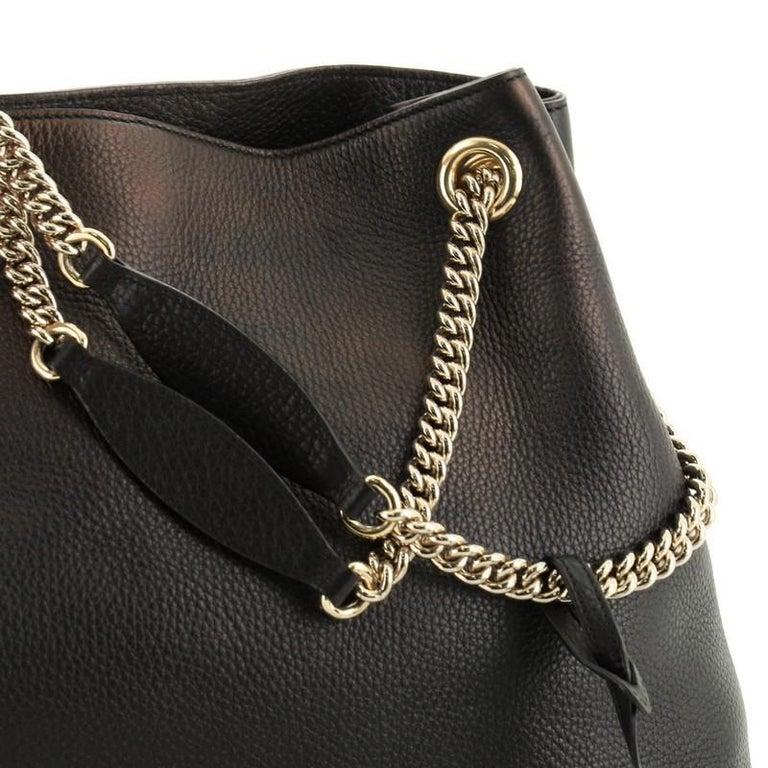 Gucci Soho Chain Strap Shoulder Bag Leather Medium For Sale 4