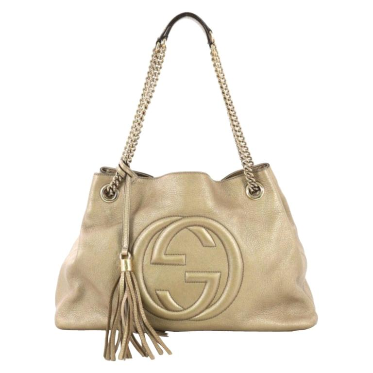f10512e77 Gucci Soho Chain Strap Shoulder Bag Leather Medium For Sale at 1stdibs