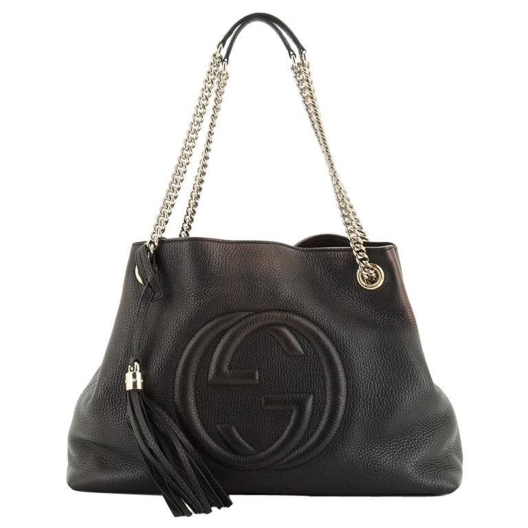 Gucci Soho Chain Strap Shoulder Bag Leather Medium For Sale