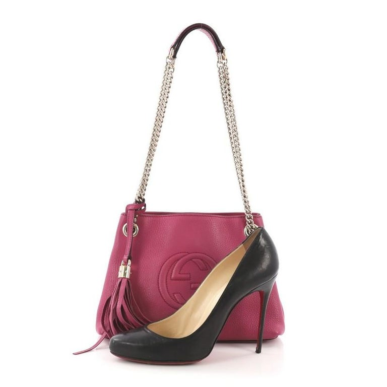 54f34a3ff6b Gucci Soho Chain Strap Shoulder Bag Leather Mini For Sale at 1stdibs