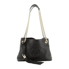 Gucci Soho Chain Strap Shoulder Bag Leather Mini