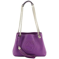 Gucci Soho Chain Strap Shoulder Bag Leather Mini