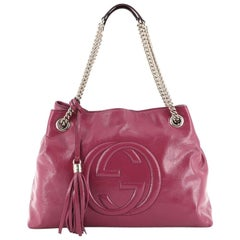 Gucci Soho Chain Strap Shoulder Bag Patent Medium