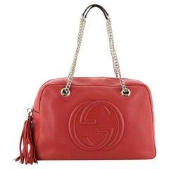 Gucci Soho Chain Zip Shoulder Bag Leather Medium