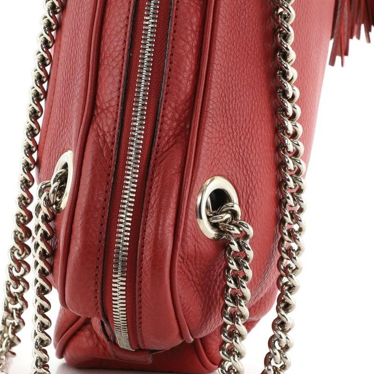 Gucci Soho Chain Zip Shoulder Bag Leather Small 3