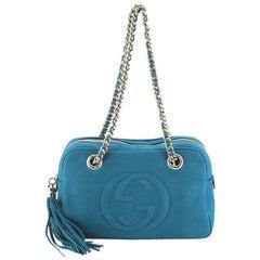Gucci Soho Chain Zip Shoulder Bag Nubuck Small