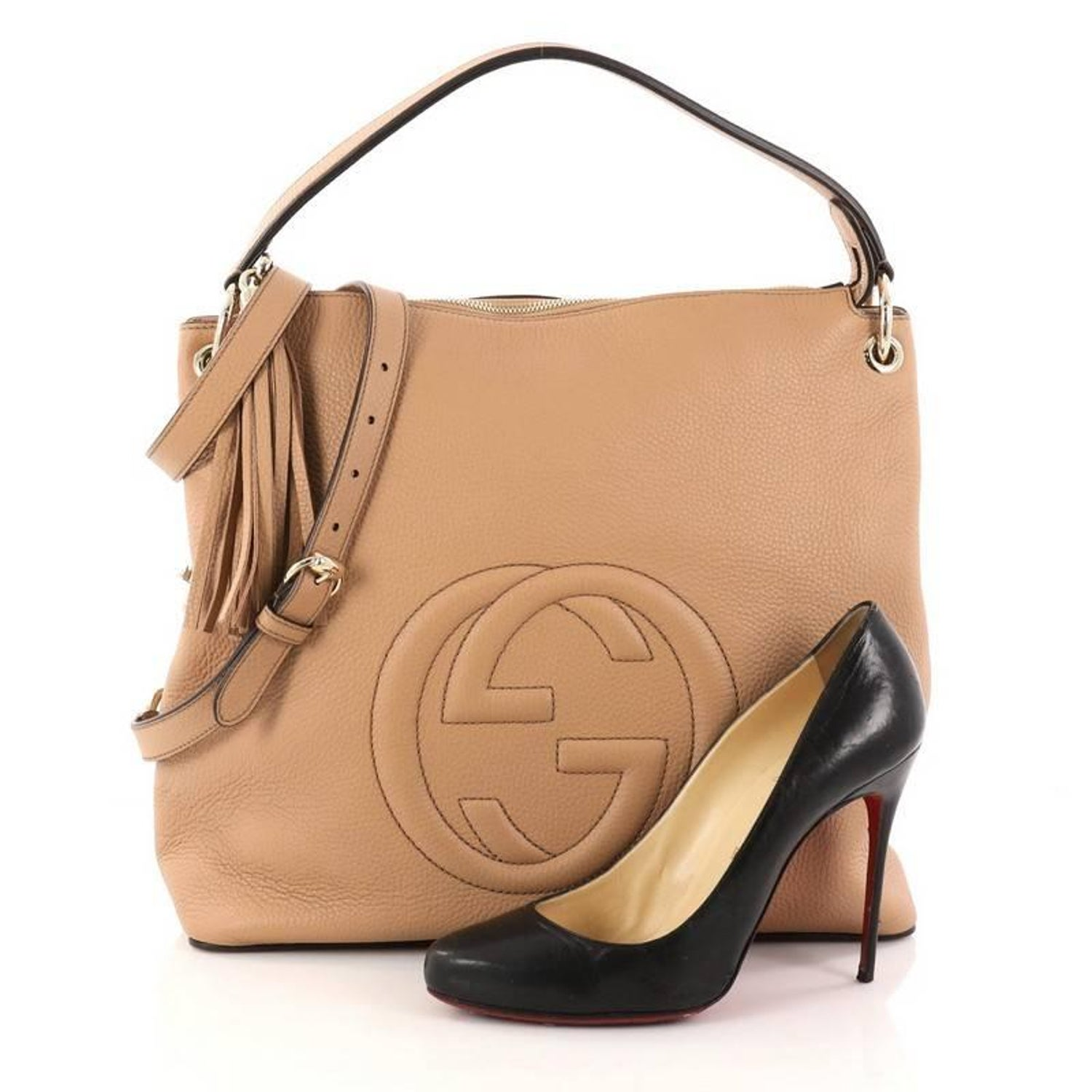 Gucci Soho Convertible Hobo Leather Large At 1stdibs