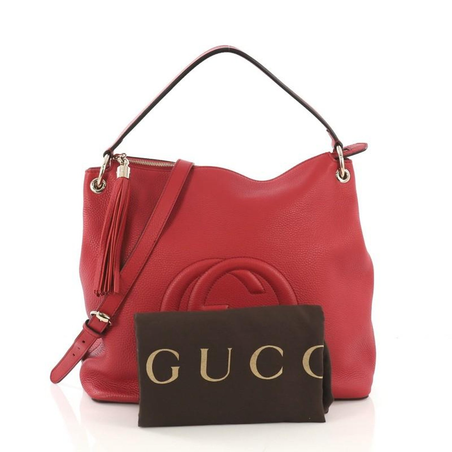 7fac45f1260f4a Gucci Soho Convertible Hobo Leather Large For Sale at 1stdibs