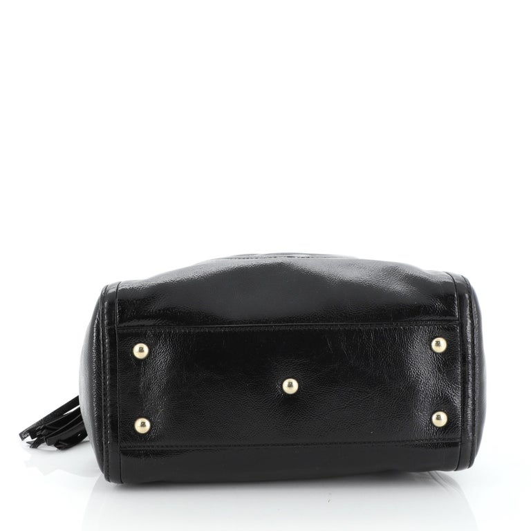 Women's or Men's Gucci Soho Convertible Shoulder Bag Patent Small For Sale