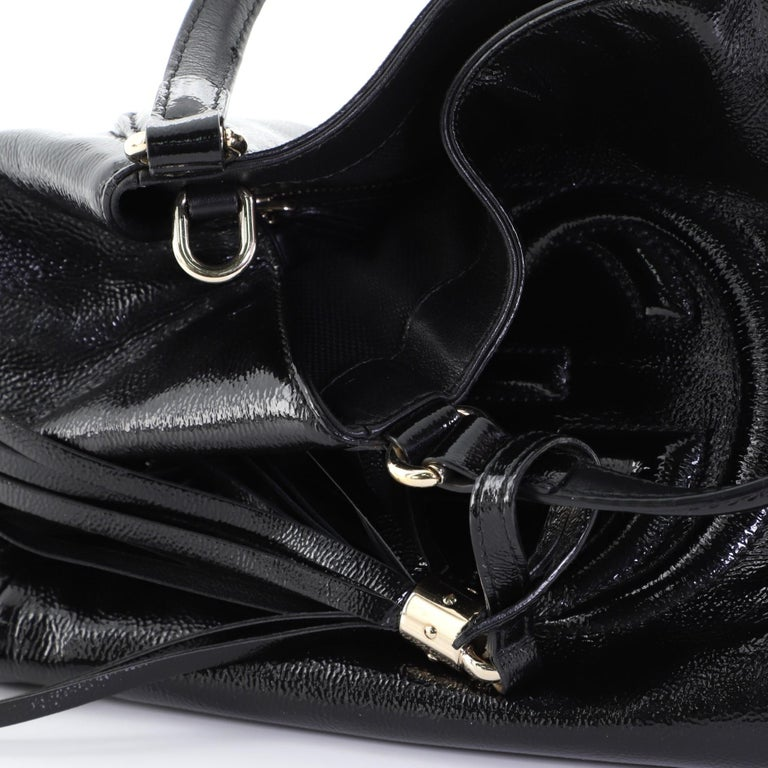 Gucci Soho Convertible Shoulder Bag Patent Small For Sale 2