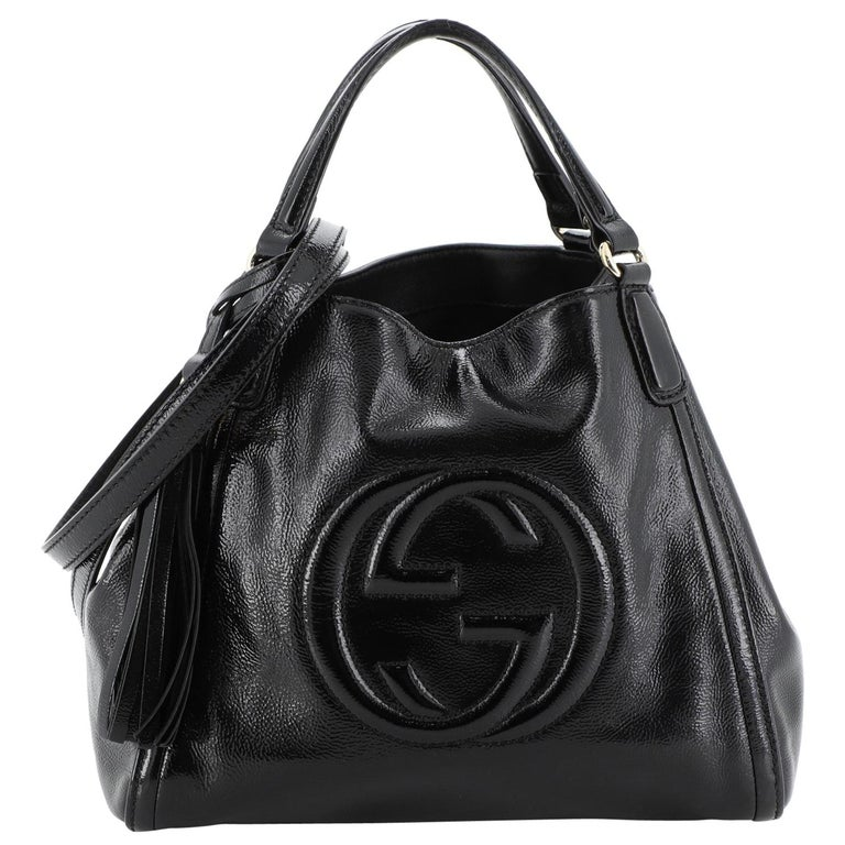 Gucci Soho Convertible Shoulder Bag Patent Small For Sale