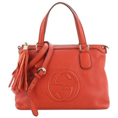 Gucci Soho Convertible Soft Top Handle Bag Leather