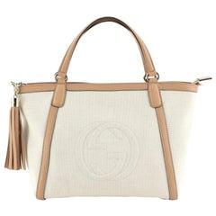 Gucci Soho Convertible Top Handle Bag Canvas Medium