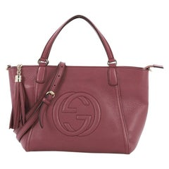 71a58bbd342 Gucci Soho Convertible Top Handle Bag Leather Small