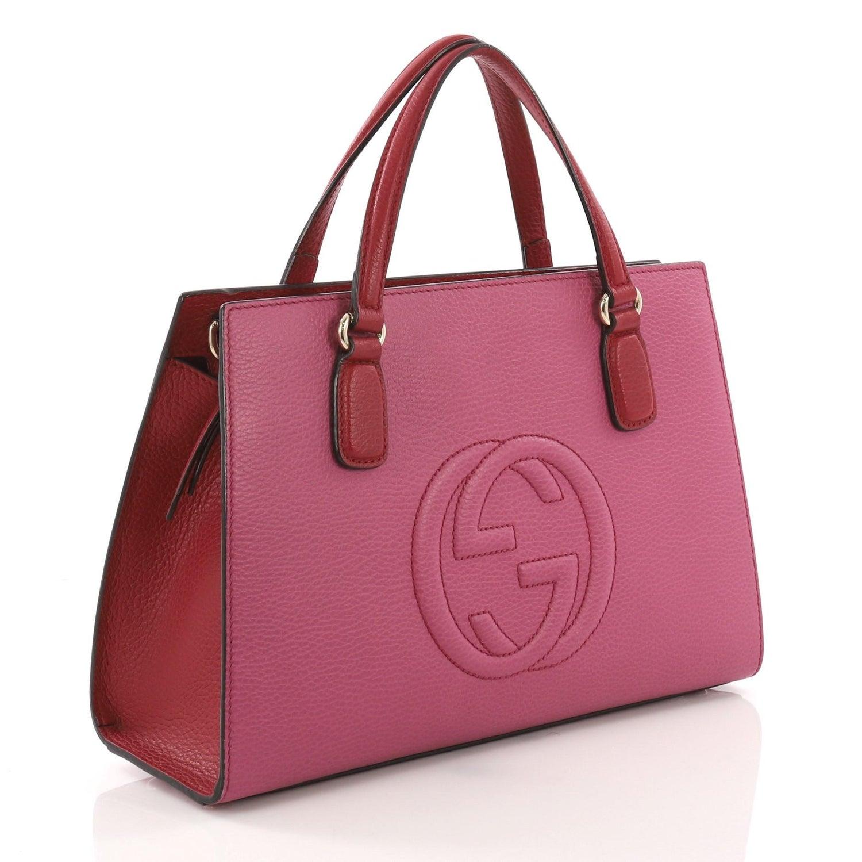 6da0fa417 Gucci Soho Convertible Top Handle Satchel Leather Medium at 1stdibs