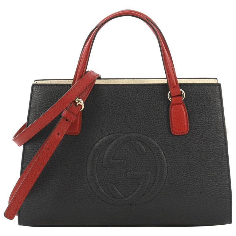 2b8727ce901 Gucci Soho Convertible Top Handle Satchel Leather Medium For Sale at ...