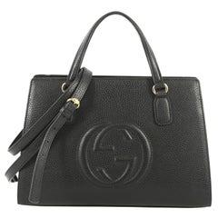 Gucci Soho Convertible Top Handle Satchel Leather Medium