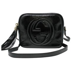 Gucci Soho Disco Black Patent Leather Crossbody Bag