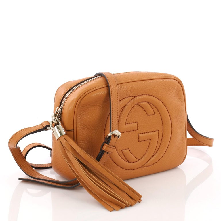 742410cf541 Brown Gucci Soho Disco Crossbody Bag Leather Small For Sale
