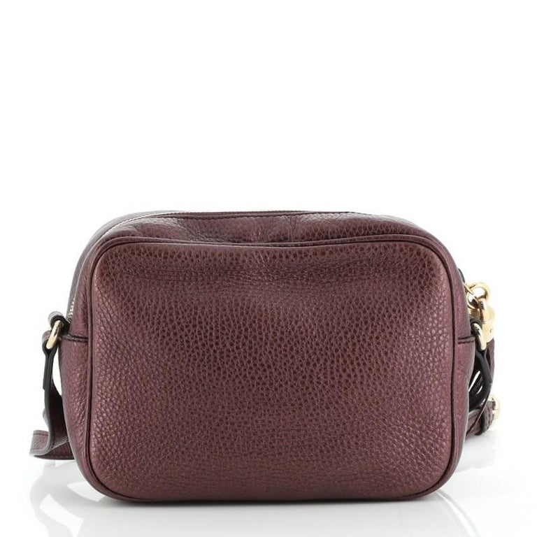 Black Gucci Soho Disco Crossbody Bag Leather Small For Sale