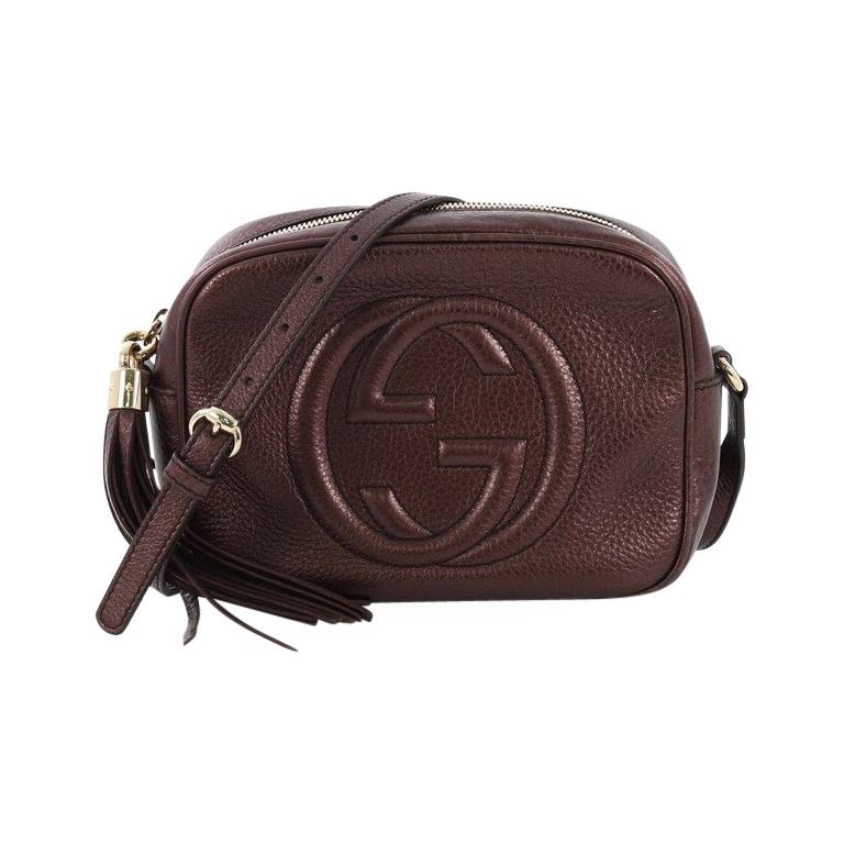 725c09d10 Gucci Soho Disco Crossbody Bag Leather Small For Sale at 1stdibs