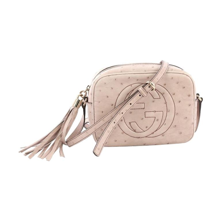 6f4246ca3b Gucci Soho Disco Crossbody Bag Ostrich Small For Sale at 1stdibs