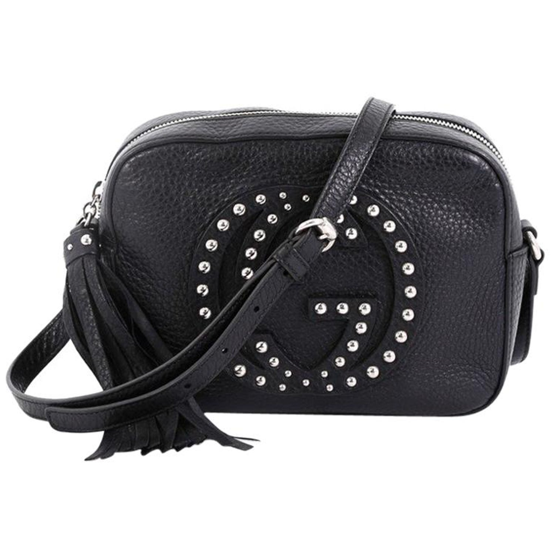 89878bebc Gucci Soho Disco Crossbody Bag Studded Leather Small at 1stdibs