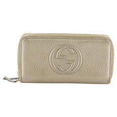 Gucci Soho Double Zip Around Wallet Leather Long