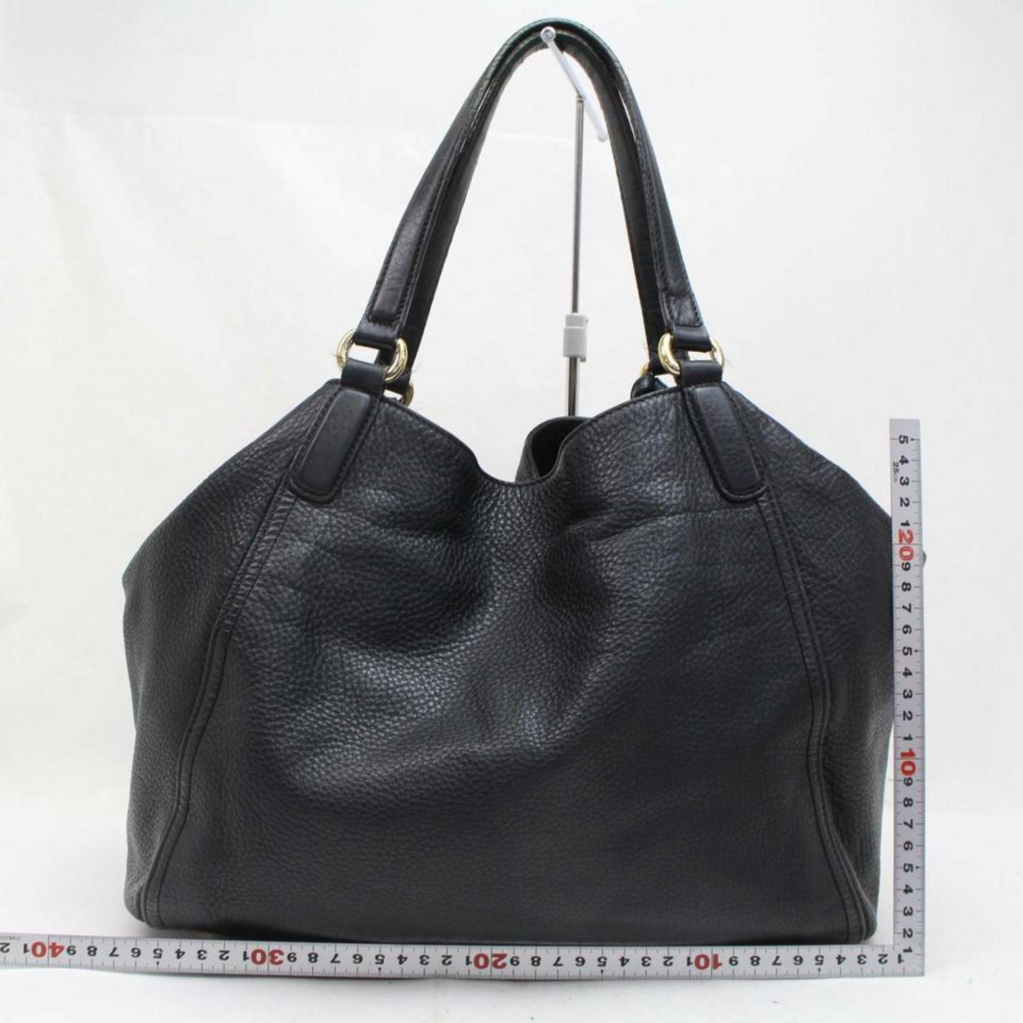 e6f26adae Gucci Soho Fringe Tassel Large 870069 Black Leather Tote at 1stdibs