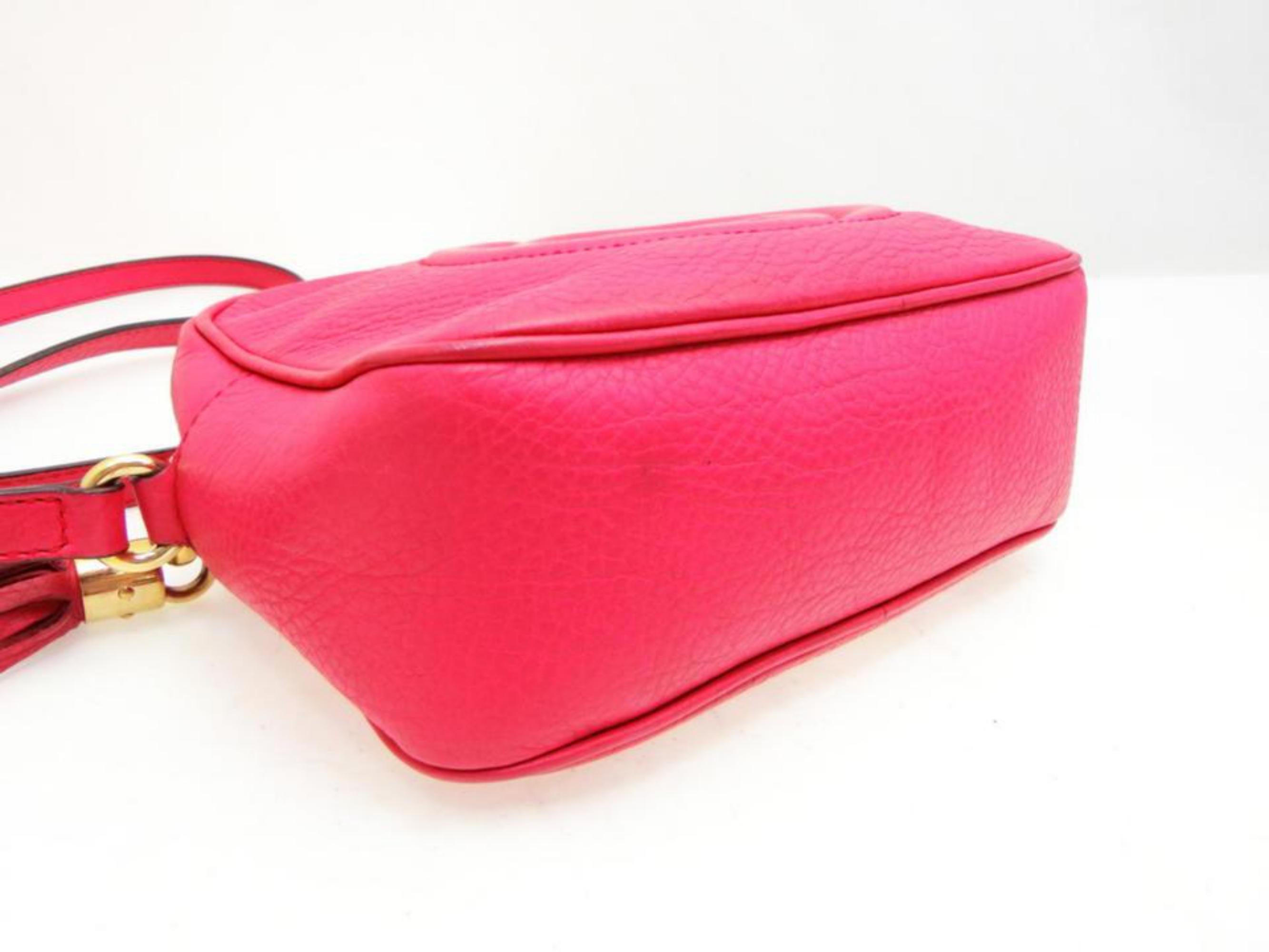 6547849abe4 Gucci Soho Fuchsia Fringe Tassel Disco 230924 Pink Leather Cross Body Bag  For Sale at 1stdibs