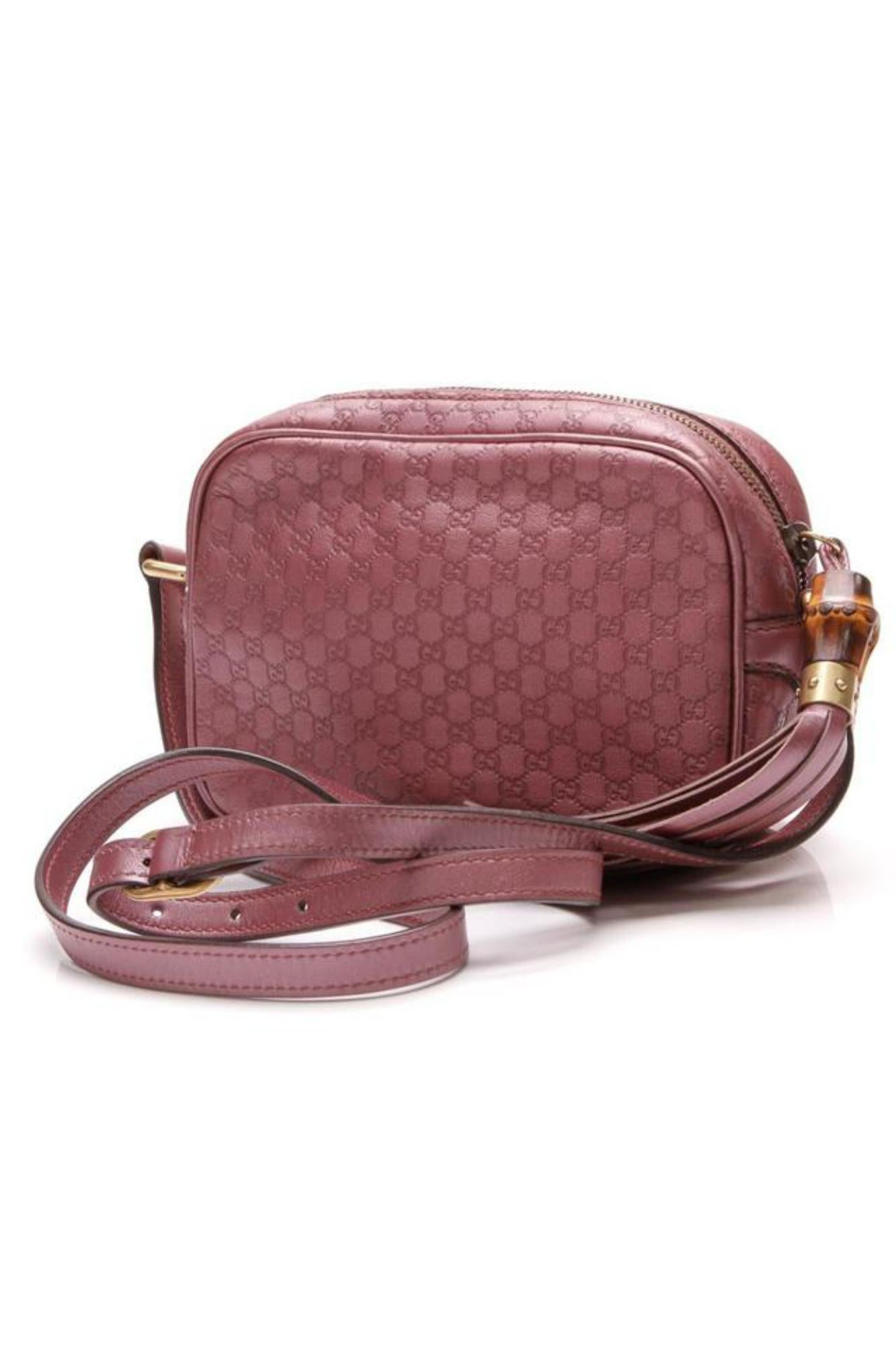 a3e46278075 Gucci Soho Guccissima Sunshine Disco 866100 Rose (Pink) Leather Cross Body  Bag For Sale at 1stdibs