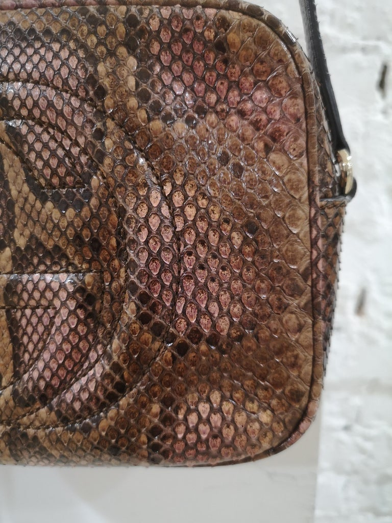 Gucci Soho python shoulder bag In Excellent Condition For Sale In Capri, IT