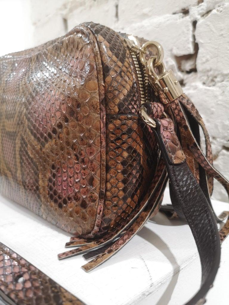 Gucci Soho python shoulder bag For Sale 1