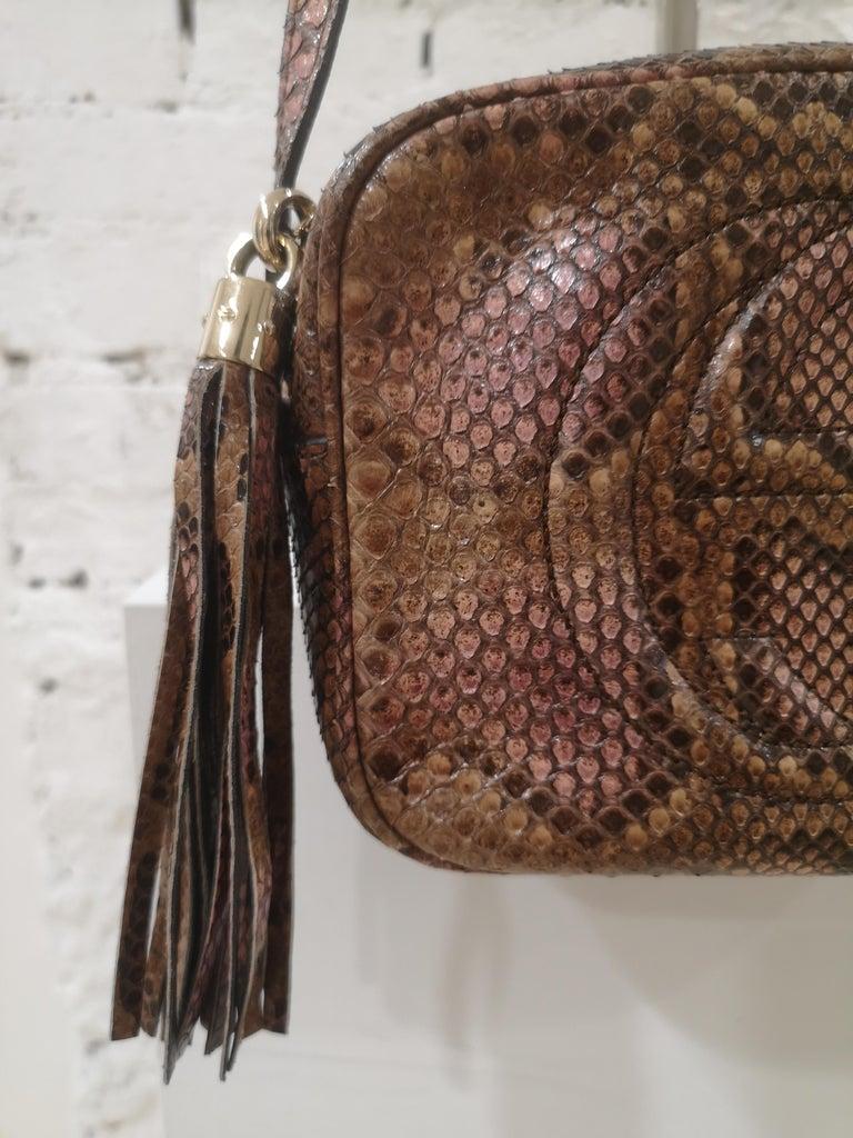 Gucci Soho python shoulder bag For Sale 3