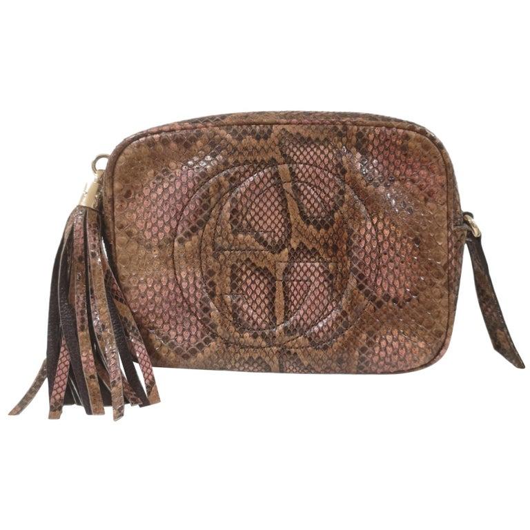 Gucci Soho python shoulder bag For Sale