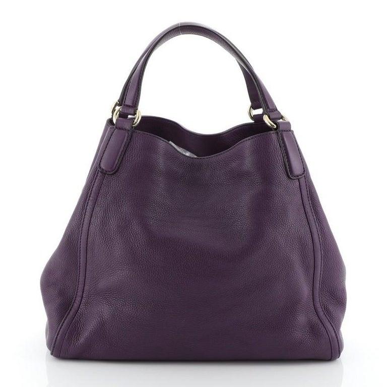 Black Gucci Soho Shoulder Bag Leather Medium