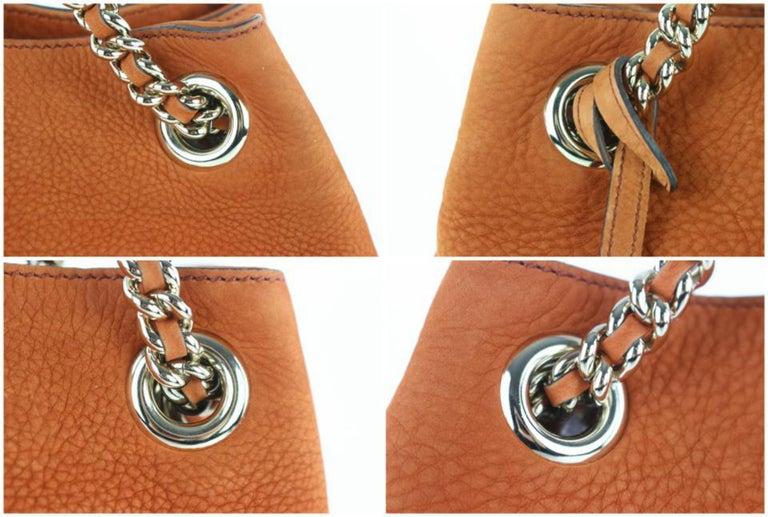 678f464318bf Gucci Soho Tassel Burnt Suede Chain Tote 7ge1223 Orange Nubuck Leather  Shoulder For Sale 6