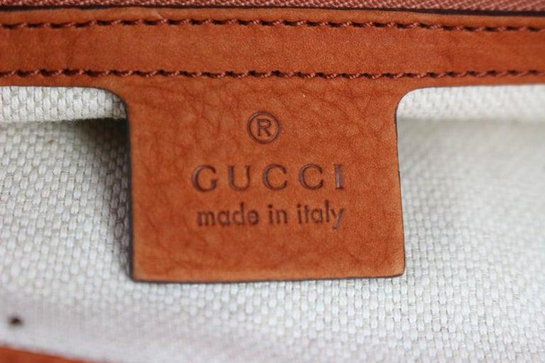 aabe411a1b69 Gucci Soho Tassel Burnt Suede Chain Tote 7ge1223 Orange Nubuck Leather  Shoulder For Sale 1
