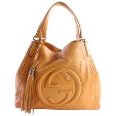 Gucci Soho Tassel Tote 11gr0529 Orange Leather Hobo Bag