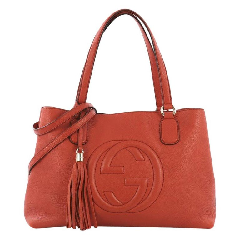 9fa7e2c615d Gucci Soho Working Tote Leather Medium For Sale at 1stdibs