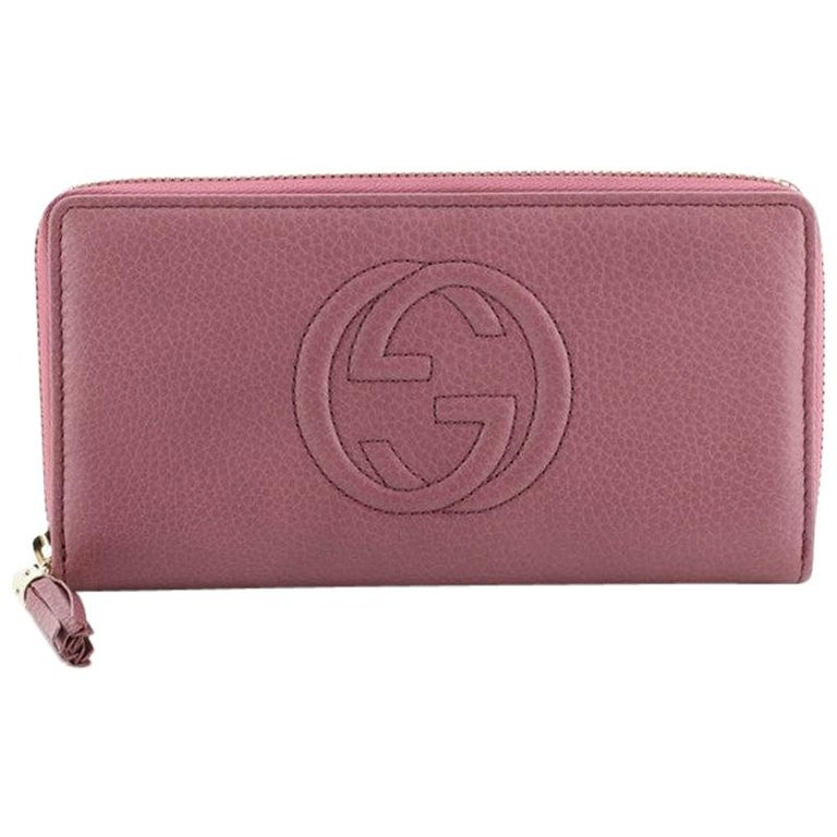 Gucci Soho Zip Around Wallet Leather For Sale