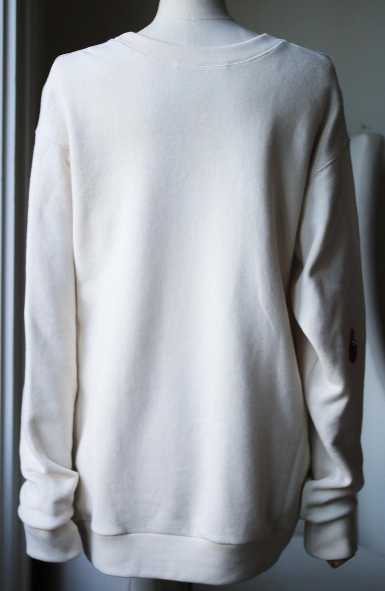Gucci Spiritismo Logo Cotton Sweatshirt In Excellent Condition For Sale In London, GB