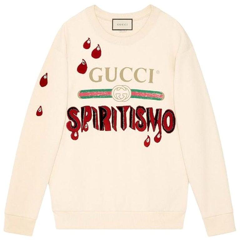 Gucci Spiritismo Logo Cotton Sweatshirt For Sale