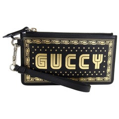Gucci Spring 2018 Guccy Moon and Stars Small Wristlet Bag